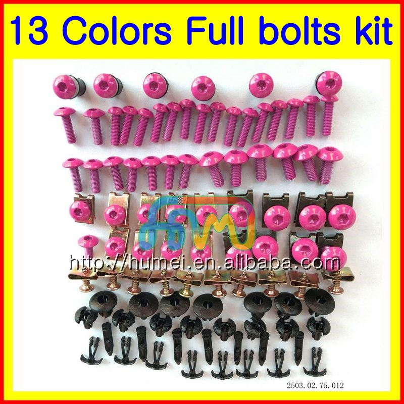 Motorcycle Fairing bolts full screws bolt kit For HONDA KAWASAKI SUZUKI YAMAHA DUCATI BW TRIUMPH Aprilia screw nuts nut 1HM43