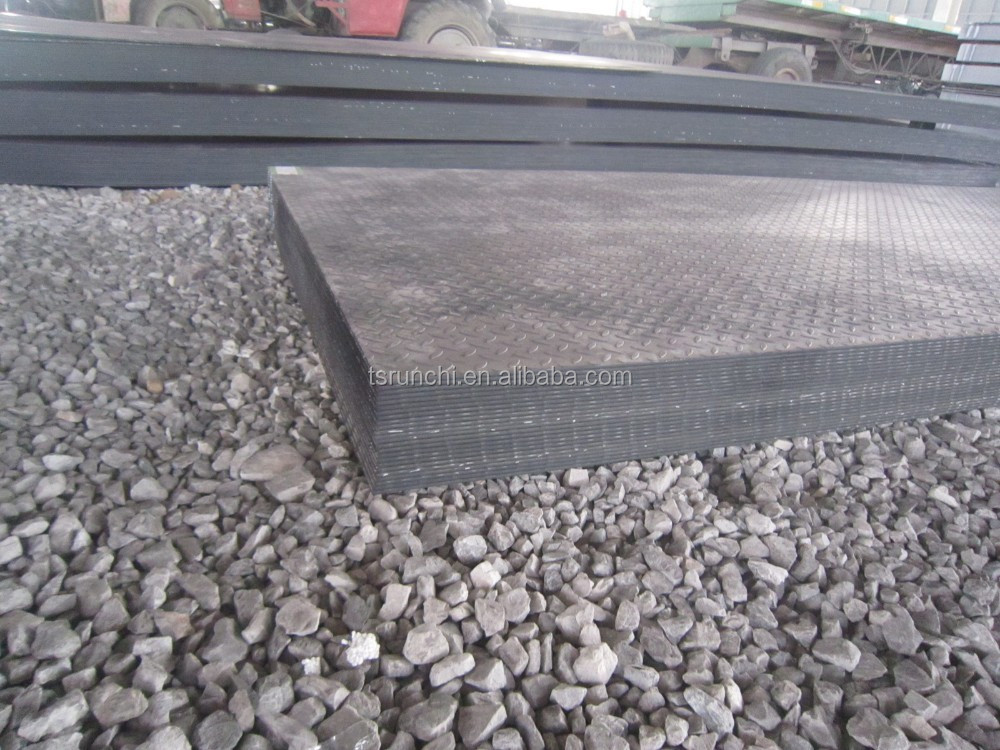 Hot Rolled mid steel Checkered diamond tear shape Steel Plate made in china