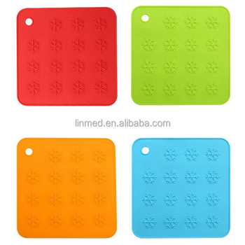 Silicone Placemat Pot Holder Heat Resistant Protector Kitchen Mat