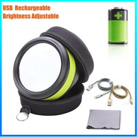 DH-86016 Manufacturer Wholesale Price Glass Lens Magnifier Magnifying Glass With Led