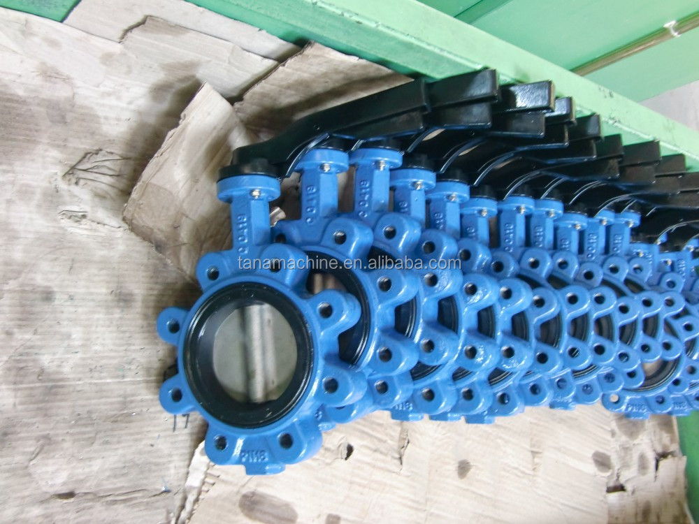 DN200 lug type butterfly valve with lever /gear operated
