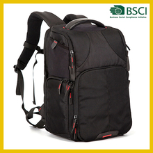 High Quality Nylon Black Professional Dslr Camera Bag Backpack From China
