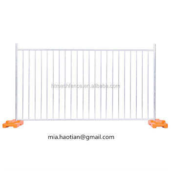 Residential site swimming pool security fence metal picket temporary fence panel 1.2m size