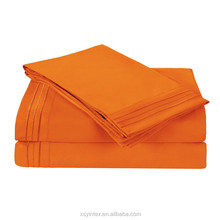 Microfiber fabric orange bedding sets