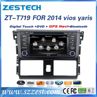 factory price special car dvd player For TOYOTA vios yaris 2014 support 3G audio DVB-T MP3 MP4 HDMI DVD function
