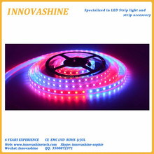Full color dc 5v Individually Addressable led christmas lights ic Built-in digital smd 5050 rgb strip lighting ws2812b pixel led