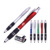 Office supplies Black classic gripper plunger action pen with stylus
