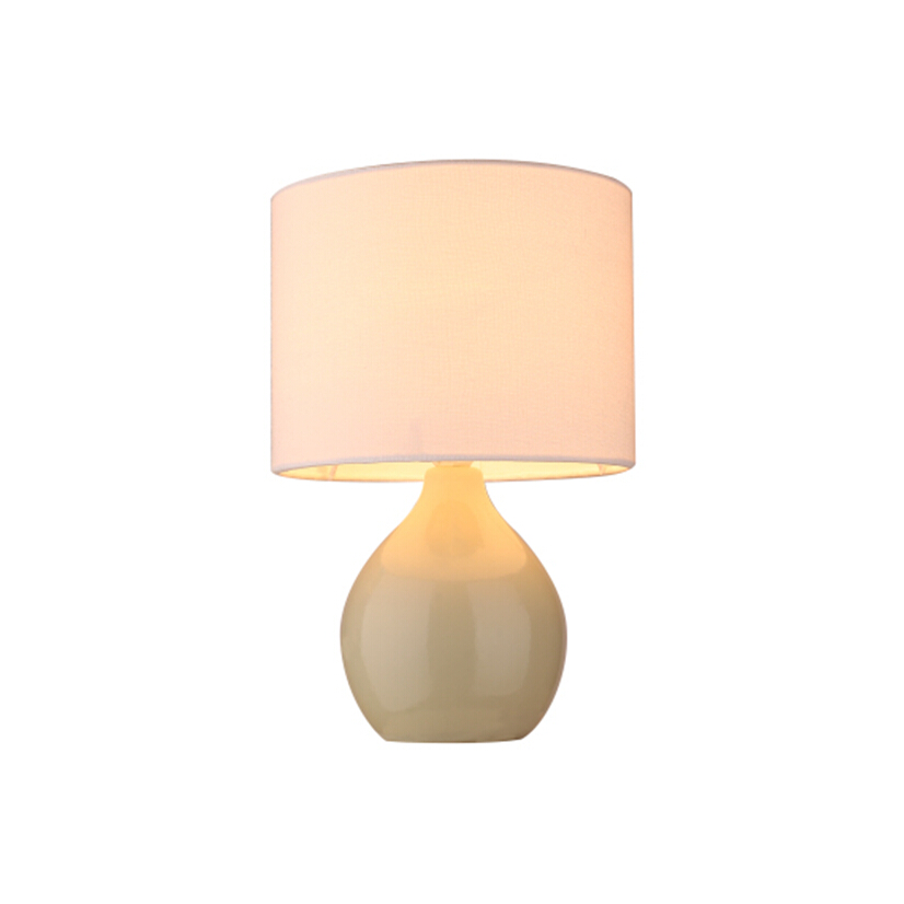 simple ceramic round base room table lamp