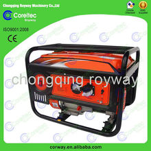 air cooled single cylinder 4 stroke recoil/electric start portable gasoline generator 1kw