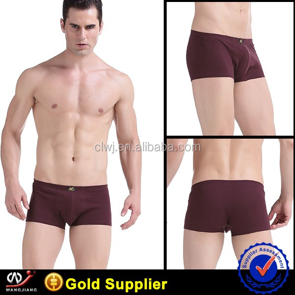 100% cotton box package boxer man Underwear adult mens underwear