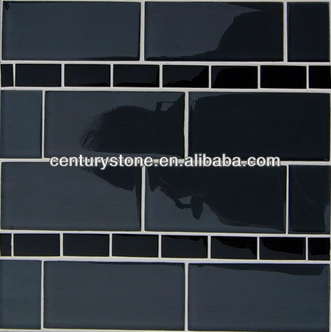 Irregular shape kithchen backsplash glass tile