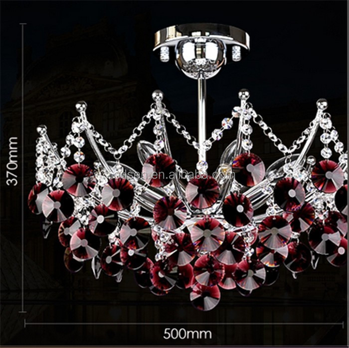 contemporary dining room red led crystal chandelier lamp