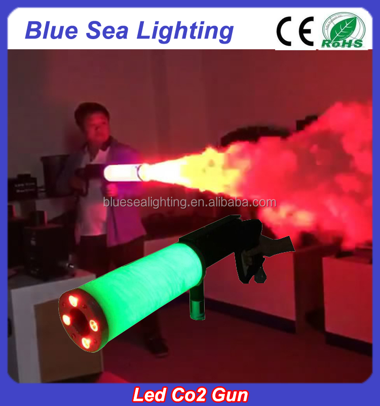Pro stage effect handheld night club dj equipment jet led co2 gun