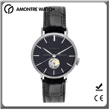 Sapphire-Coated Mineral Crystal Automatic Mechanical Open- Heart Watch