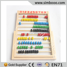 Computation Frames Cartoon Abacus Beads Teachig Beads Toy for Kids Wooden Educational Toy