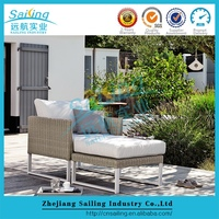 Modern Artificial Outdoor Rattan Wicker Furniture Single Sofa