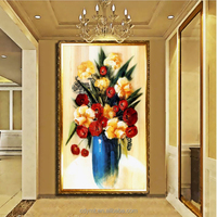 Custom shipping modern canvas oil paintings flowers in vases pictures