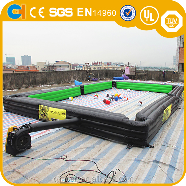 Funny inflatable snooker pool table,Inflatable snook ball,Inflatable football billiards