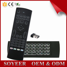 2.4g wierless mx3 air mouse with backlit for Android TV Box/Mini PC/SmartTV / Projector / HTPC / All-in-one PC / TV