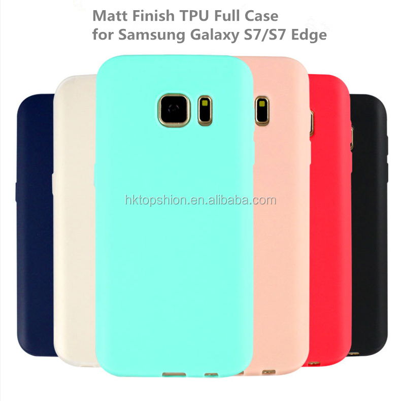 Best selling case for samsung s7 edge, for samsung galaxy s7 edge frosted tpu case pure color case cover