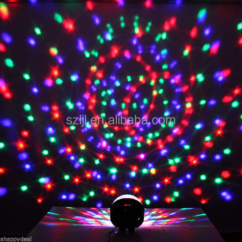 MP3 Player LED Light Magic Spinning Ball Light(Approved by CE & RoHS)
