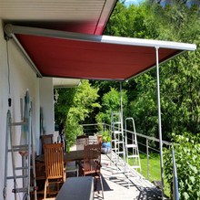 Door used patio awnings