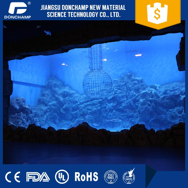 High quality restaurant decorative items glass wall decorative panels large fish tank from factory directly