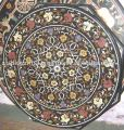 Pietra Dura Marble Inlay Table Top , Marble Dining Table Tops