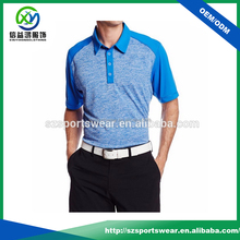 Dry fit Heather color golf polo shirts for men