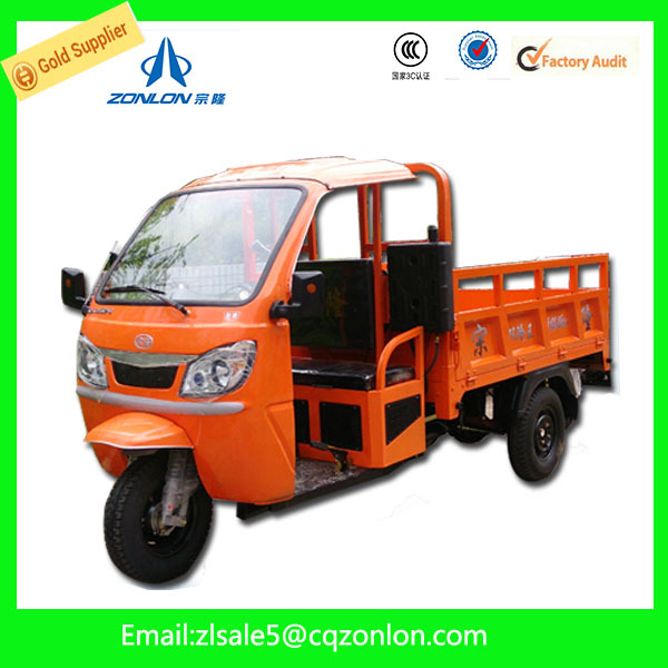 200cc China Cargo Tricycle Scooter For Sale With Cabin