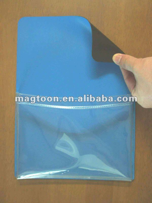 transparent PVC magnetic pen bag
