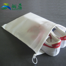 Thick durable custom printed eco friendly drawstring cotton shoe bag