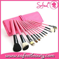 12pcs pink beauty needs makeup brush set cosmetic tools kit