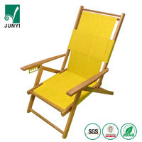 Wood Beach Furniture Folding Double Sun