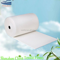 Synthetic fiber nonwoven felt coarse air filter fabric