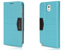 colorful cell phone leather flip case for samsung galaxy note 3