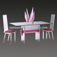 Beautuful acrylic tea table and chairs set wholesale