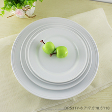 Factory custom design wholesale hotel plate porcelain dishes and plates
