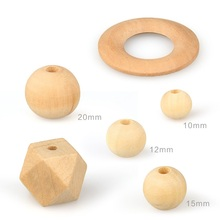 High Quality Baby Teething Natural Wood Beads DIY
