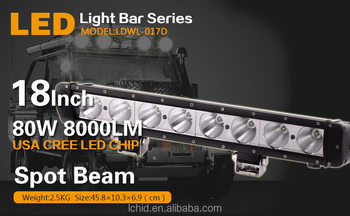 New car accessories 18inch 80W 8000lm 12/24V LED light bar offroad 4x4 led off road light bars for truck led spot light bar 4WD