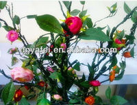 lovely tea rose cluster and branch artificial flower
