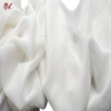 Fancy Georgette Natural White Plain Dyed Bright Elastic Silk Fabric