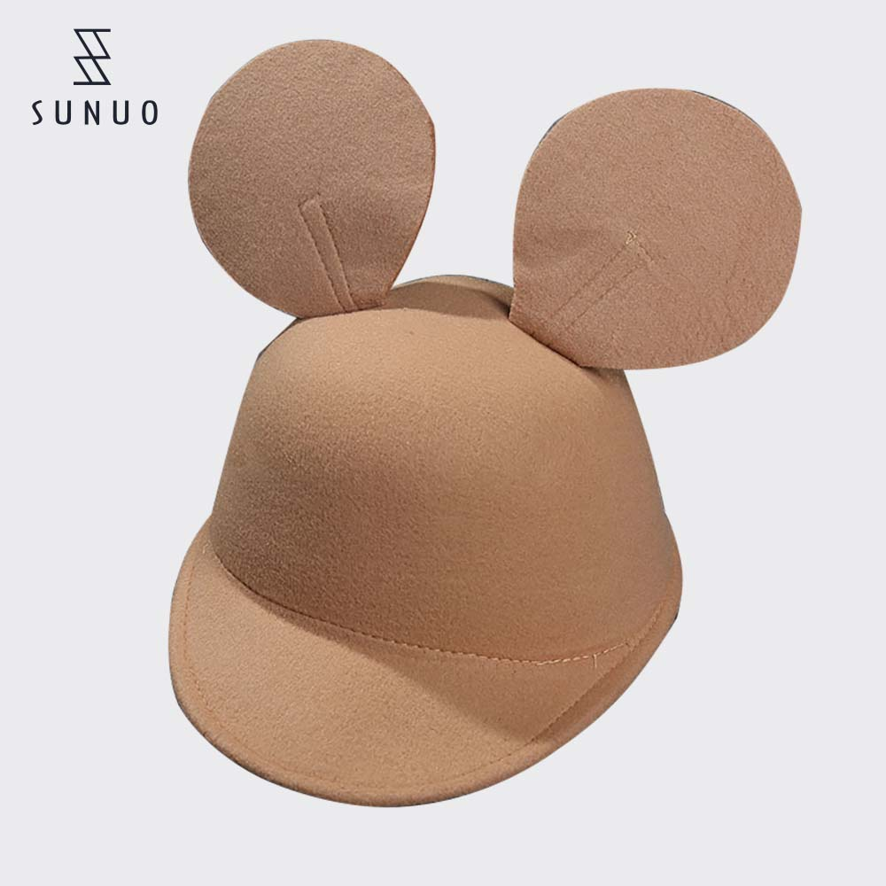New arrival winter solid color cut felt cap for women girl child