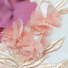 3D chiffon flower embroidery mesh fabric Z8