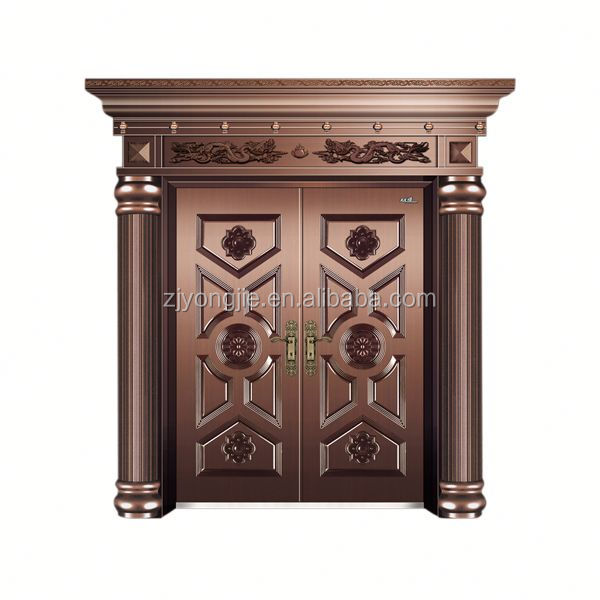 Cheap Open Style Swing imitate copper metal door