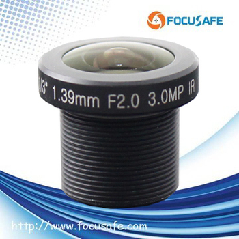 "1.39mm Megapixel board mount m12 fish eye lens with 1/3"" format"
