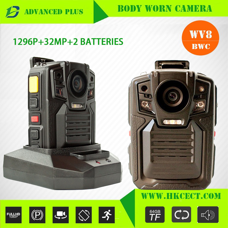 WV8 body cameras for law enforcement IP67 waterproof night vision wifi gps security guard body worn <strong>camera</strong> android police cam