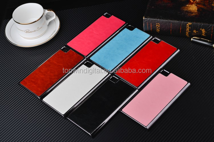 Factory Price Metal+PU Holster Fancy Phone Back Hard Case For Xiaomi M3