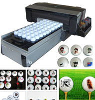 CE approved digital inkjet self-clean golfball printer ,Eco-solvent a3 inkjet flatbed printer card/golfball printing machine