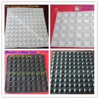 18x6mm dome top soft black clear silicone antislip rounded self adhesive bumpers rubber feet laptop buffer bumper